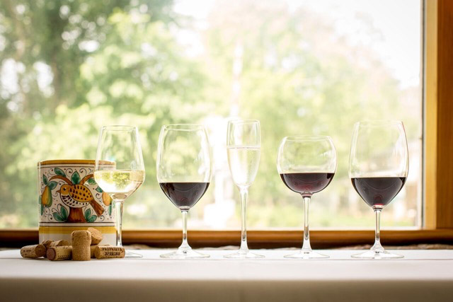 Wine Glasses - Girasole - The Plains, VA, Middleburg, Marshall, Salamander Spa and Resort, Whole Ox, Red Truck Bakery, Gentle Harvest, Haymarket