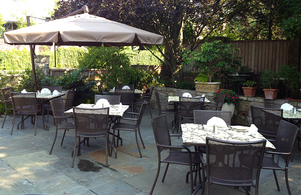 Patio tables at Girasole