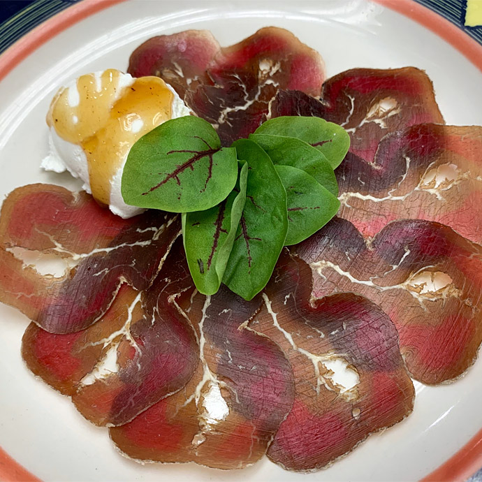 Bresaola with ricotta
