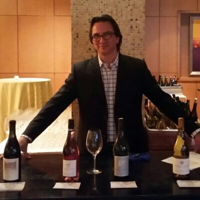 Mark with wine